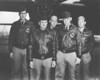 Crew No. 1 (Plane #40-2344, target Tokyo): 34th Bombardment Squadron, Lt. Col. James H. Doolittle, pilot; Lt. Richard E. Cole, copilot; Lt. Henry A. Potter, navigator; SSgt. Fred A. Braemer, bombardier; SSgt. Paul J. Leonard, flight engineer/gunner. (U.S. Air Force photo)