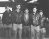 Crew No. 16 (Plane #40-2268, target Nagoya): 34th Bombardment Squadron, Lt. William G. Farrow, pilot; Lt. Robert L. Hite, copilot; Lt. George Barr, navigator; Cpl. Jacob D. DeShazer, bombardier; Sgt. Harold A. Spatz, flight engineer/gunner. (U.S. Air Force photo)