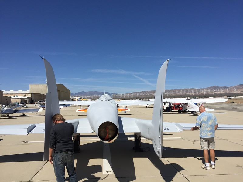 A look at the back of the Ares jet. You can see the off centered jet intake on the left side.