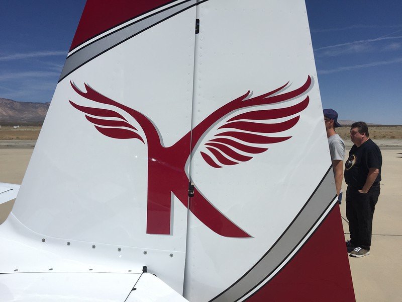 Tail art on Keith's RV-7A.