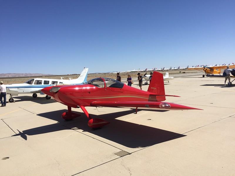 Red RV-7.