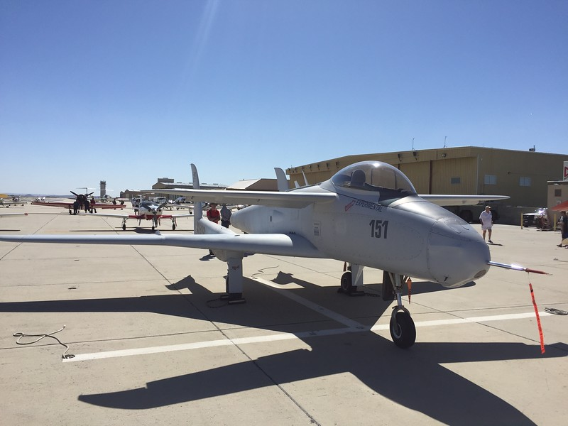 The Rutan Ares jet was on display.
