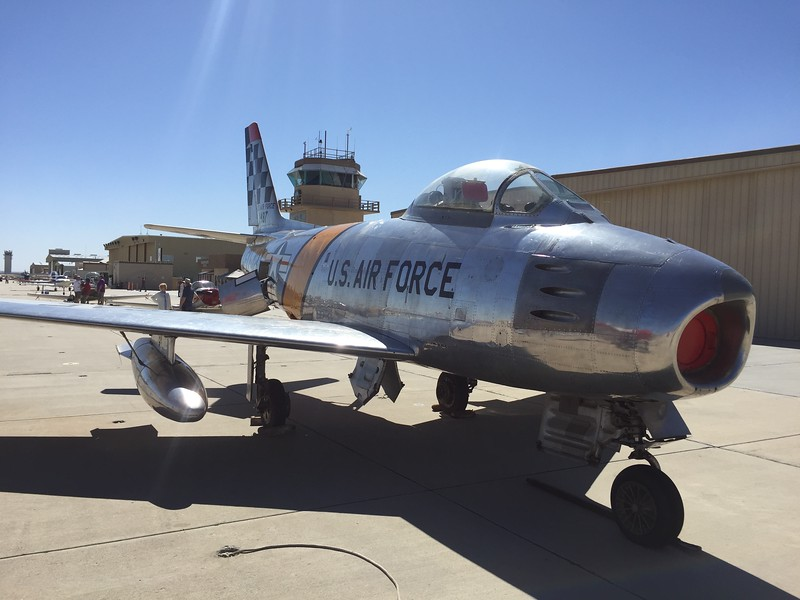 And this F-86 Sabre jet fighter.