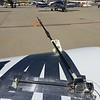 The jackscrew on the bottom can pivot the pitot/AOA probe horizontally.