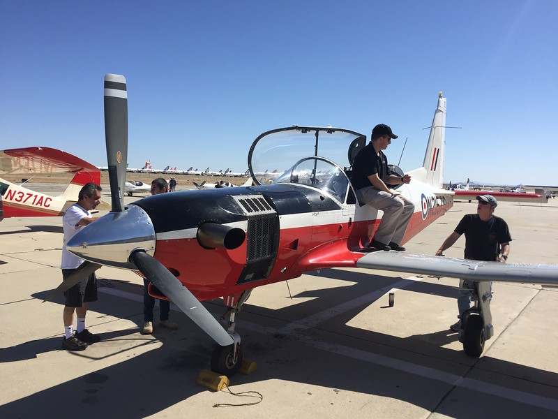 This plane looked like a Tucano, but it is a Norman Firecracker - just one of 6 ever built.