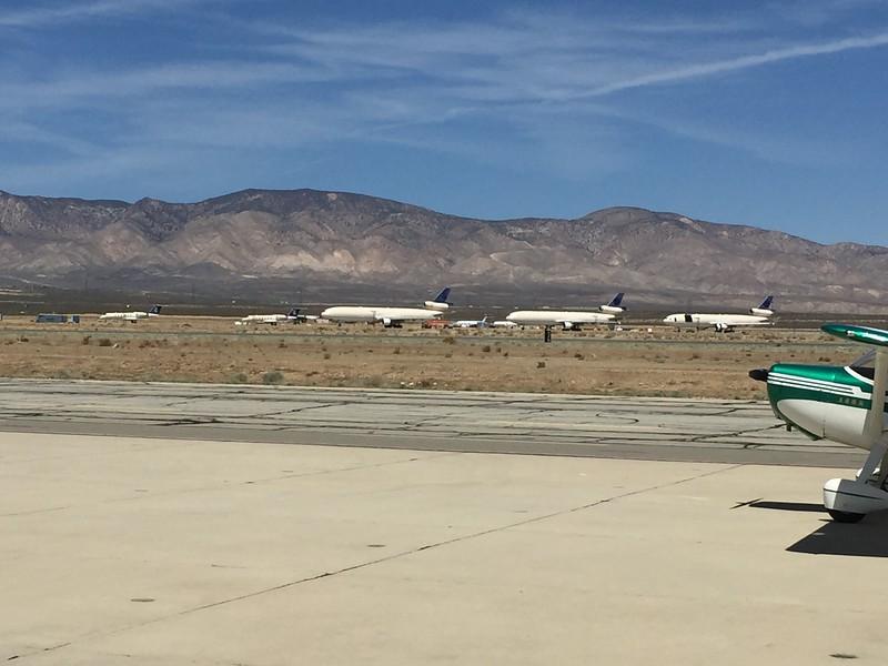 Lots of big jets in the Mojave boneyard.