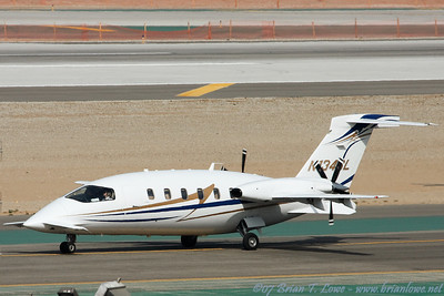 Piaggio P180 Avanti II twin-engine turboprop business aircraft.