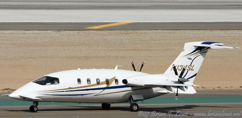 Piaggio P180 Avanti II twin-engine turboprop business aircraft.
