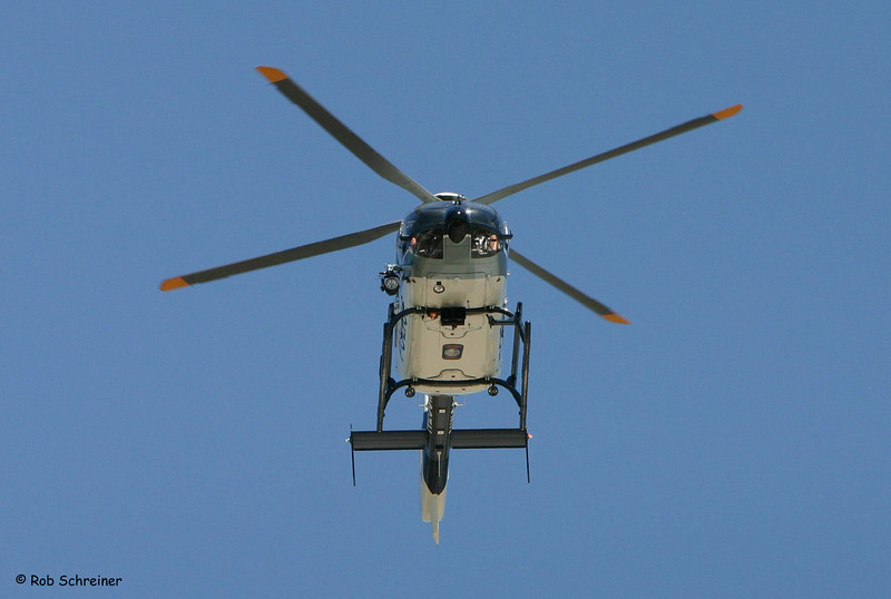 Winthrop Harbor Police Air 1 hovers at the airport in Kenosha.