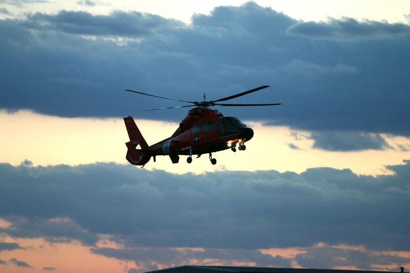 The Coast Guard coming into Kenosha.