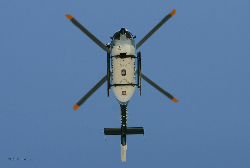 LEAC's previous helicopter, EC135 by Eurocopter.