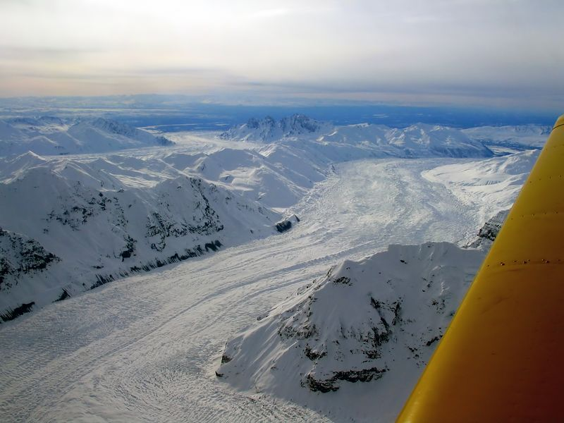 Tokositna Glacier, Ruth Glacier in the distance