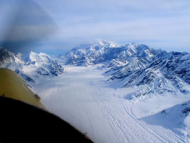 Kahiltna Glacier, Mt. McKinley (everything is much larger than it appears)