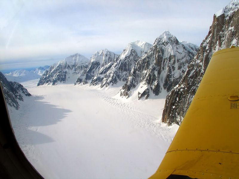"""The Great Gorge"" on the Ruth Glacier"
