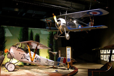 Nieuport 27 (Reproduction) and Nieuport 24bis (Reproduction) N24Rl and N5597M