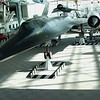 Lockheed SR-71 Blackbird Supersonic Long Range Reconnaissance Airplane.  Speed, 3.2 times speed of sound, or about 2400 miles per hour, and flies at 85,000 feet altitude.