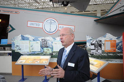 If you go to the Museum of Flight, make sure you take a tour with one of the extremely knowledgeable docents.  Here, Bruce Florsheim (who happens to be my father-in-law) is giving us a bit of history on United Airlines and Boeing Air Transport.  Bruce happens to have a very unique background, having worked for Boeing for 42 years!  Some truly amazing stories!