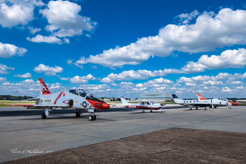 My Cardinal looks small beside T-45's and Piper Merridian