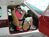 5/10/01, Elizabeth MacDonald in Russell's plane