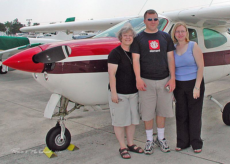 2004 Carol, Logan, Carla ready to fly over Savannah
