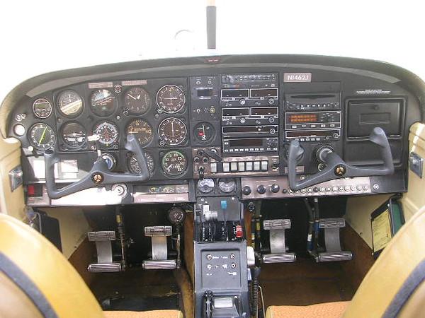 KMA-20 Audio Panel, Dual KX-155 w/ KI-209 and KI-208, KN-64 DME, KT-76C Transponder, PS Engineering PCD7100-I Stereo Intercom w/ CD/MP3 player, Foster Loran w/ CDI, KR-87 ADF, Davtron Digital OAT, Electronics Intl. Electronic Clock (SC-5), Vertical Compass Card, SVS III Standby Vacuum