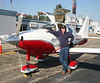 Mike stand in front of his Columbia 400, fall 2007 at Patrick Henry Field in VA.