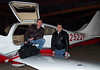 Bennett and Mike in Feb 2005 at Potomac Airfield (KVKX) in MD.