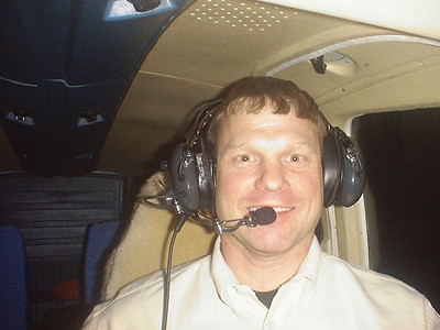 My first flight to Fort Smith in 2002.  A pair of $75 headsets and off I went. Yes it was dark, 1:00 AM at 12,500 over Kansas.  The fake sheep skin seat covers were special.