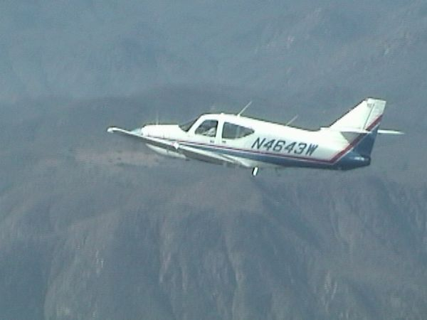 N4643W over the Southern California Mountains headed for the Coast!