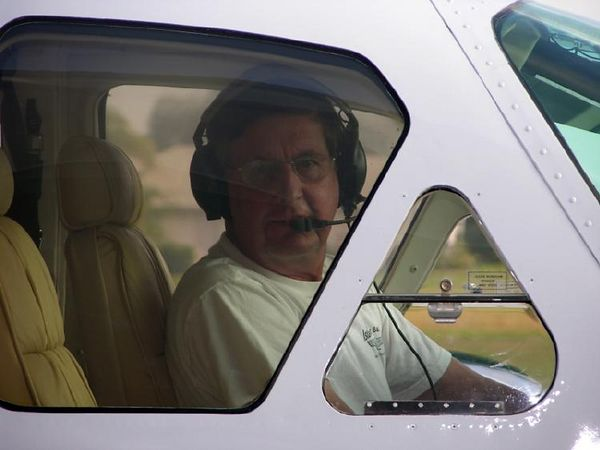George ready for takeoff