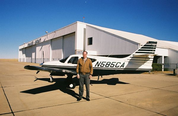 This is probably the happiest man on Earth on December 20, 2002 -- namely me just moments before mounting up in 5CA for the first time on my own to fly it back to Northeast Philly from Wiley Post.