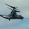 V-22 Osprey transitioning to straight flight from vertical flight