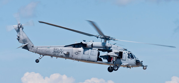 "MH-60 ""Sierra"" helo used by Special Ops. HSC-9 ""TRIDENTS"" is based in Norfolk, VA"
