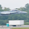 "Super Hornet from VFA-106 ""GLADIATORS"" 50 feet off the deck."