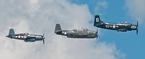 SkyRaider, SBD Dauntless and FG1-D Corsair