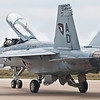 Super Hornet taxiing back to the ramp