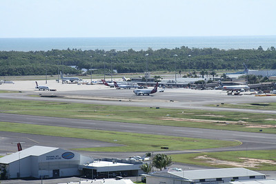 CAIRNS AIRPORT FROM THE LOOK OUT.
