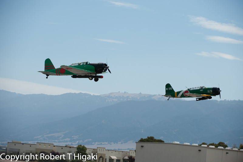 Torpedo and bomber planes. This is a re-enactment of the attack on Pearl Harbor.
