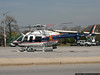 "NCPD's newest helicopter, ""Nassau 5"" preparing to leave the Oyster Bay LIRR station parking lot on a Medevac mission."
