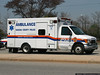 NCPD ambulance arriving at the Oyster Bay LIRR station parking lot, carrying a patient for a Medevac flight.