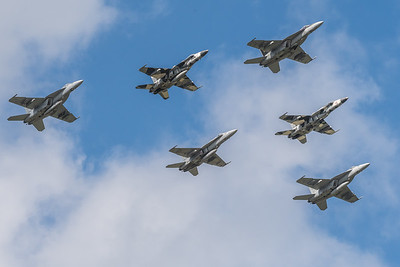 F/A 18 Hornets and F/A 18 Super Hornets from NAS Oceana