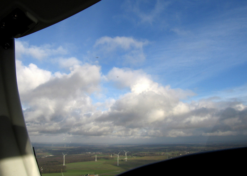 2nd successful attempt. East of Charleroi I crossed a formation of two other aircraft.