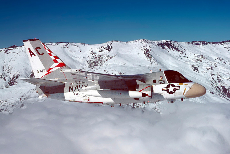 S-3A Viking over mountains