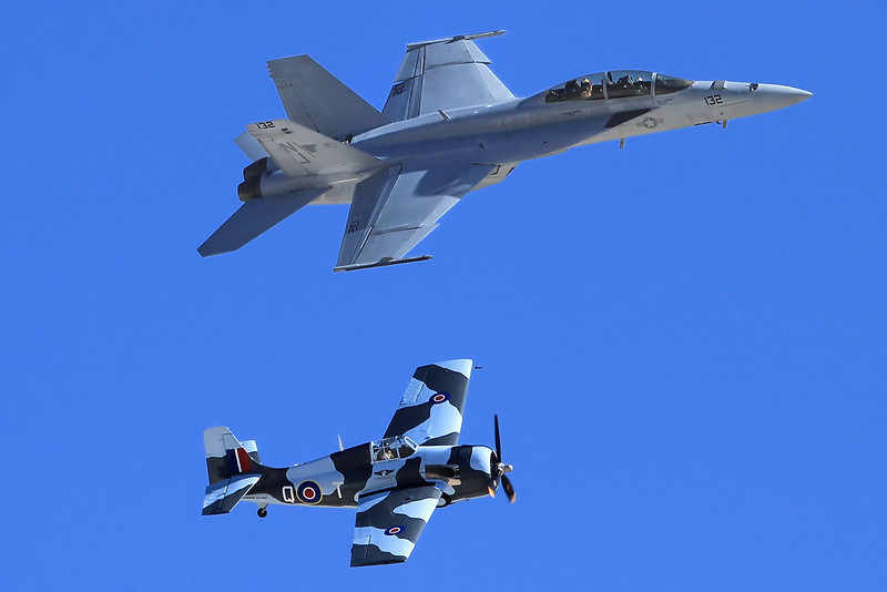 Heritage pass: F-18 Hornet and F-4F Wildcat