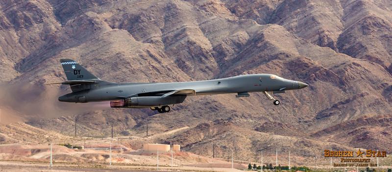 B-1 (BONE) Bomber takeoff @ Nellis AFB.  Las Vegas, Nevada
