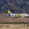 Vintage F-86 Sabre flat pass @ Nellis AFB.  Las Vegas, Nevada