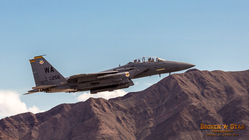 F-15 Eagle taking off from Nellis AFB.  Las Vegas, Nevada
