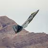F-22 Raptor hard climb.  Nellis AFB, Las Vegas, Nevada