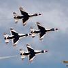 Thunderbirds F-16 Diamond Formation @ Nellis AFB.  Las Vegas, Nevada