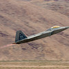 F-22 Raptor afterburner take off.  Nellis AFB, Las Vegas, Nevada